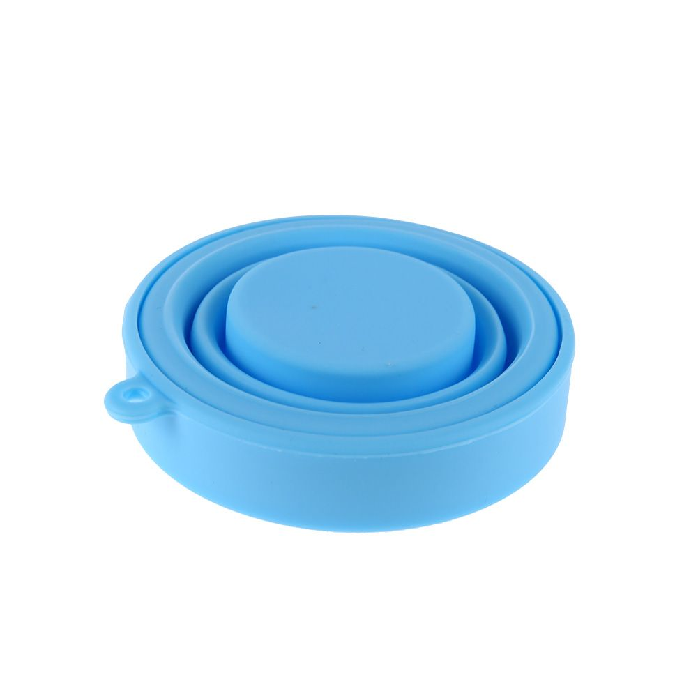 60PC Soft Protable Solid Color Water Silicone Cups Retractable Tumblerful Folding Gargle Cup For Outdoor Travel Drinkware Tool