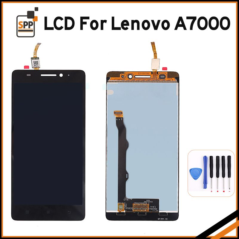 High Quality LCD for Lenovo A7000 A 7000 LCD Display Touch Screen Digitizer Glass Assembly Replacement Black White 5.5