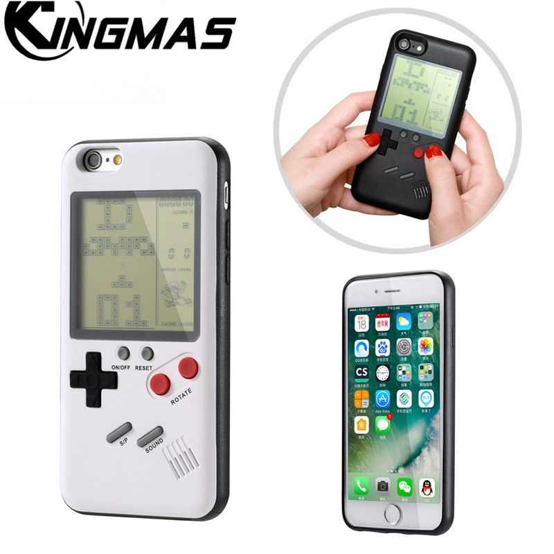 Gameboy Tetris Phone Cases for iPhone 7 8 Plus Soft TPU Can Play Blokus Game Console Cover For Iphone X 6 6S plus case