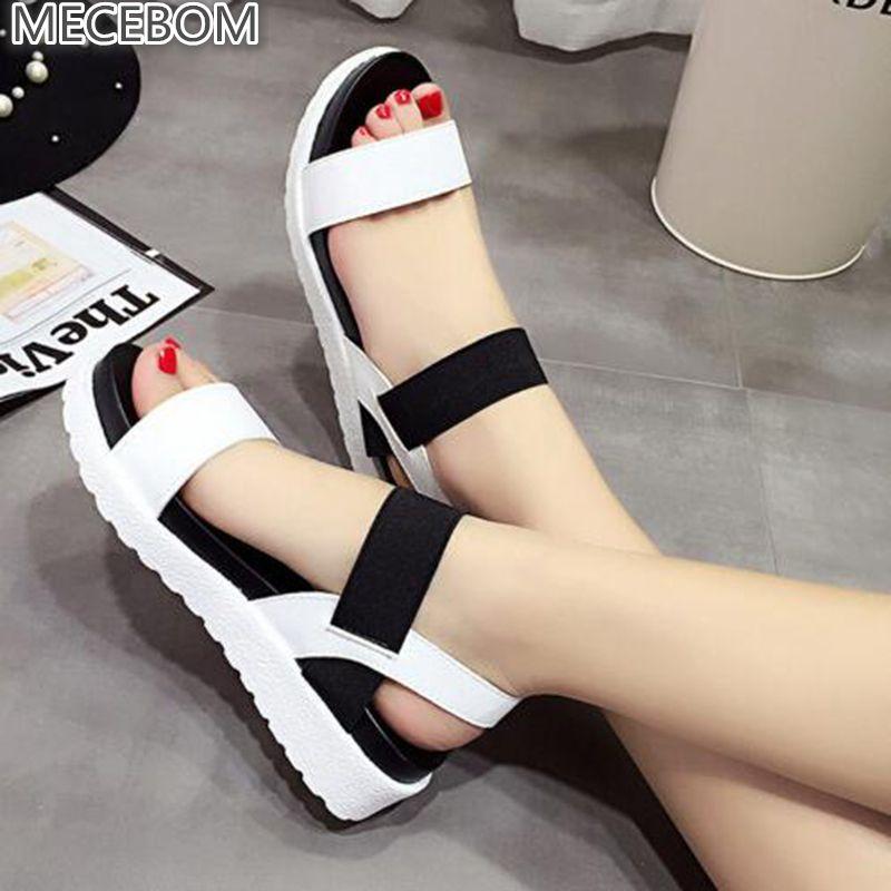 Summer sandals women flat Shoes peep-toe sandalias Roman sandals woman casual shoes Ladies Flip Flops Footwear 810w