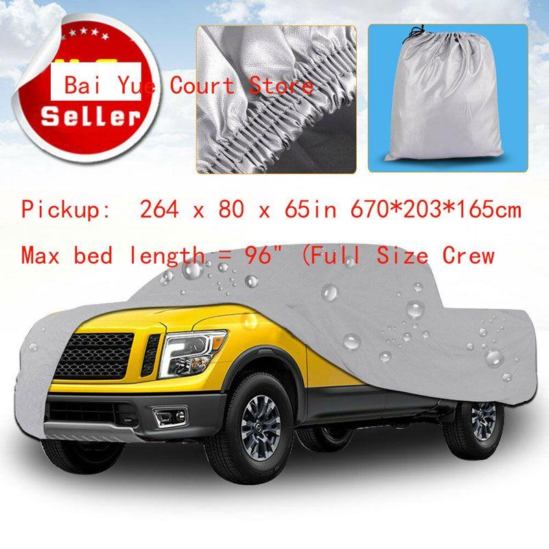 Premium Lkw Cover Outdoor Tough Wasserdicht Sun UV Regen Wärme Beständig Pickup: 264x80 x 65in 670*203*165 cm