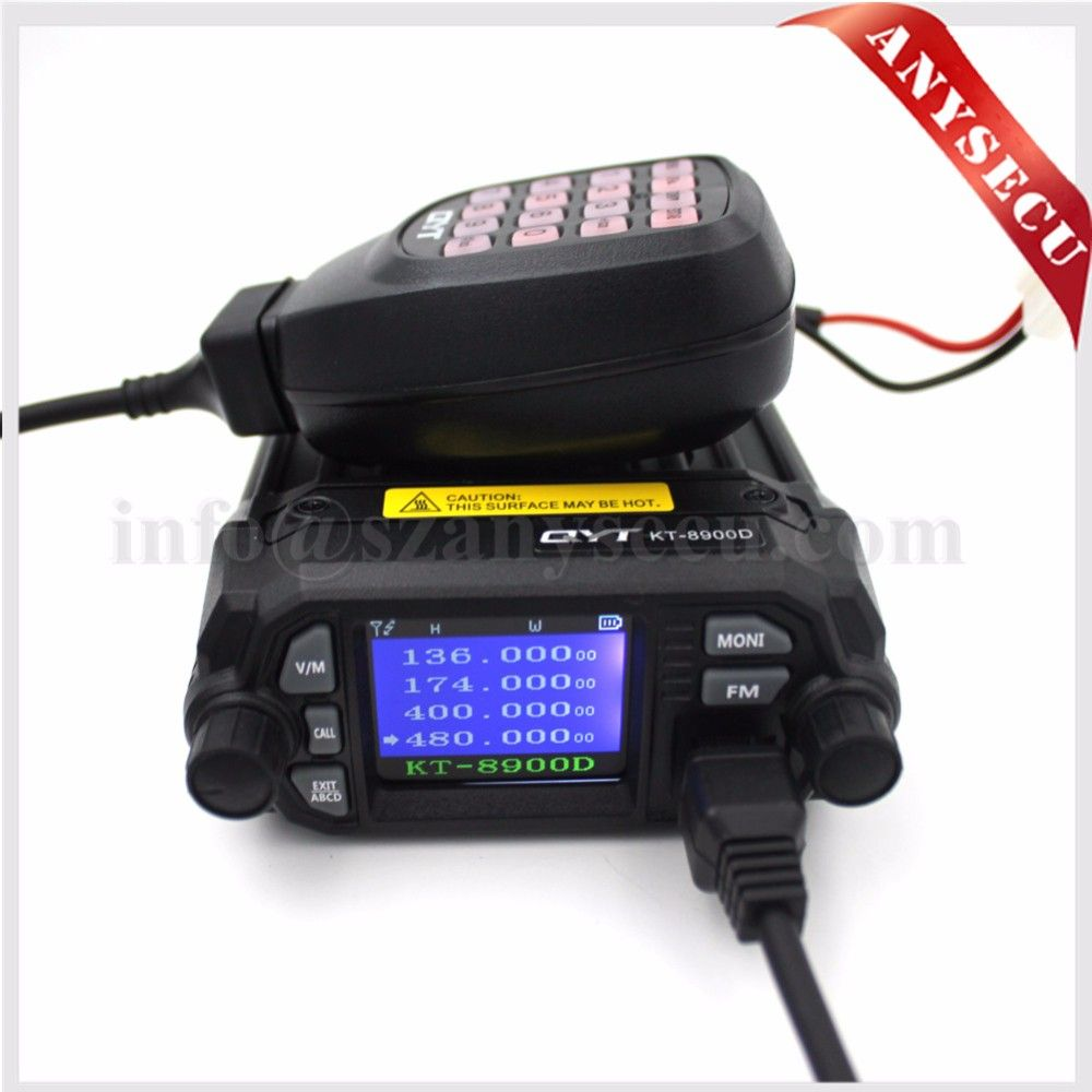 NEW Product! Mini car radio QYT KT-8900D 136-174/400-480MHz dual band quad dsiplay 25W mobile transicever KT8900D