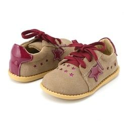 Tipsietoes Desain Baru Gadis Fashion Sepatu 2 Warna Kulit Asli Buatan Tangan Anak Anak Sepatu