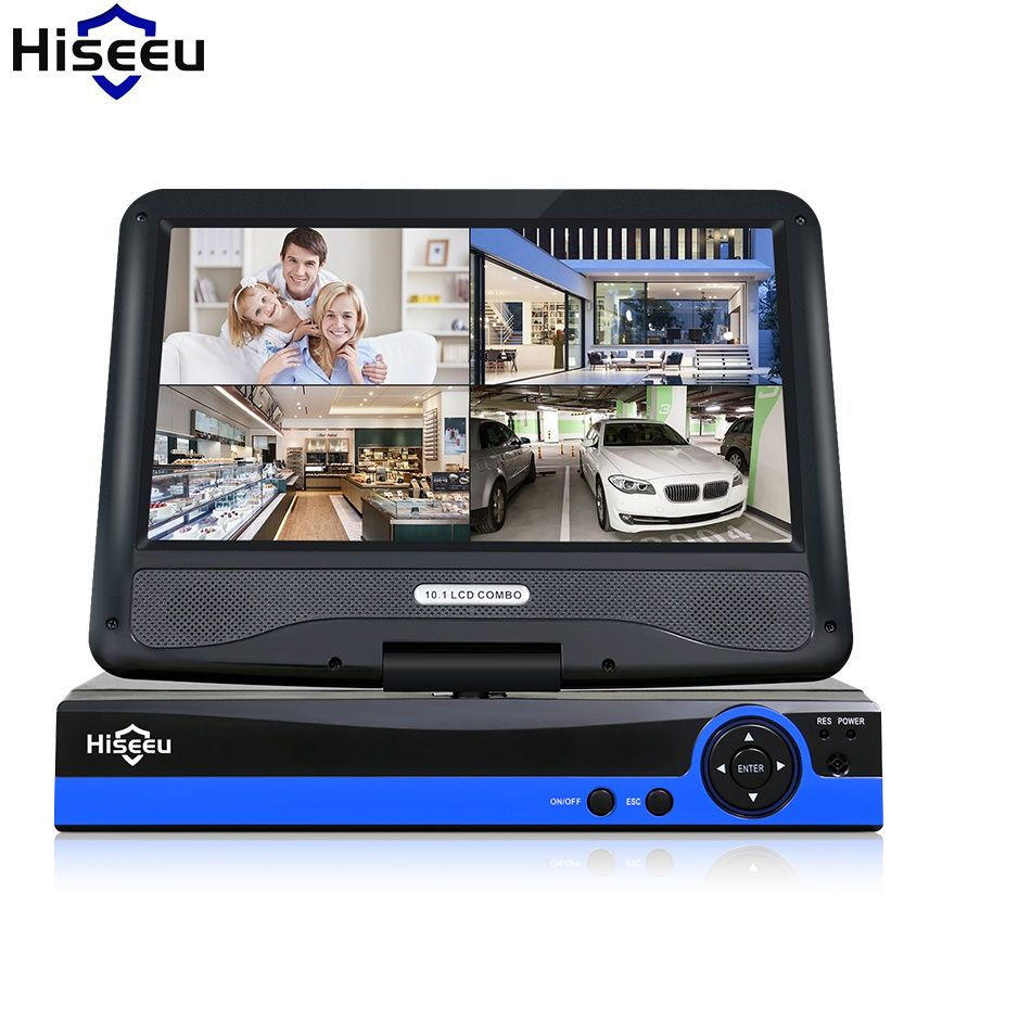 CCTV 4ch 8CH 1080N Digital Video Recorder with 10.1