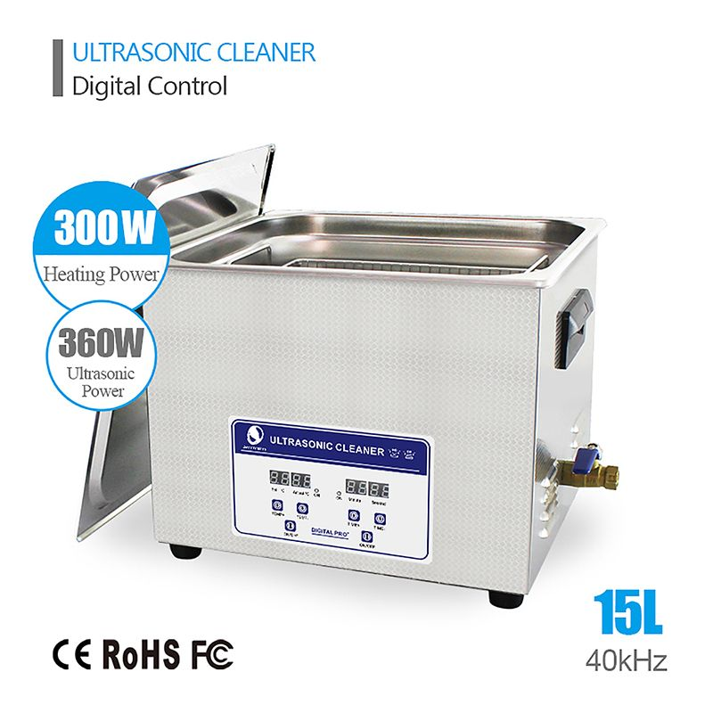 SKYMEN 15l Ultrasonic Cleaner 15L Industrial Professional Stainless Steel Hospital Industrial Auto Engine Parts Auto parts