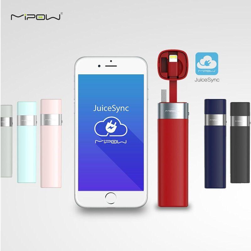 MIPOW Puissance Banque Batterie 3000 mAh Smart APP Portable Mini Chargeur avec MFI Foudre Câble pour iPhone 6 6 S 7 8 Plus iPod Apple