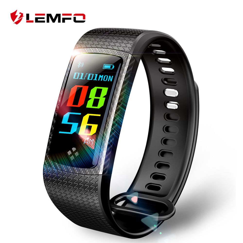 LEMFO Wristbands Smart Band Color LCD Screen Fitness Bracelet IP67 Waterproof Smart Band Heart Rate for IOS Android Phone