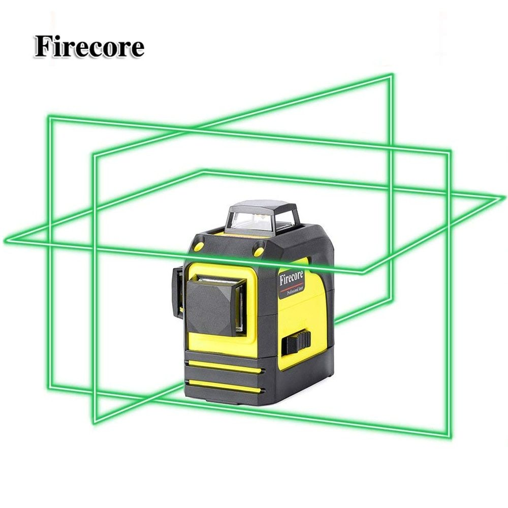 Firecore 3D 93TG 12Lines Green Laser Levels Self-Leveling 360 Horizontal And Vertical Cross <font><b>Super</b></font> Powerful Green Laser Beam Line