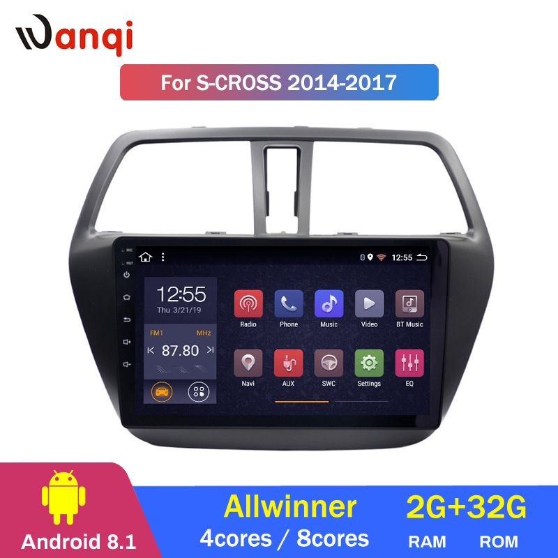 2G RAM 32G ROM Android 8.1 Auto Multimedia Player für Suzuki S-CROSS 2014-2017 Auto DVD GPS Navigation