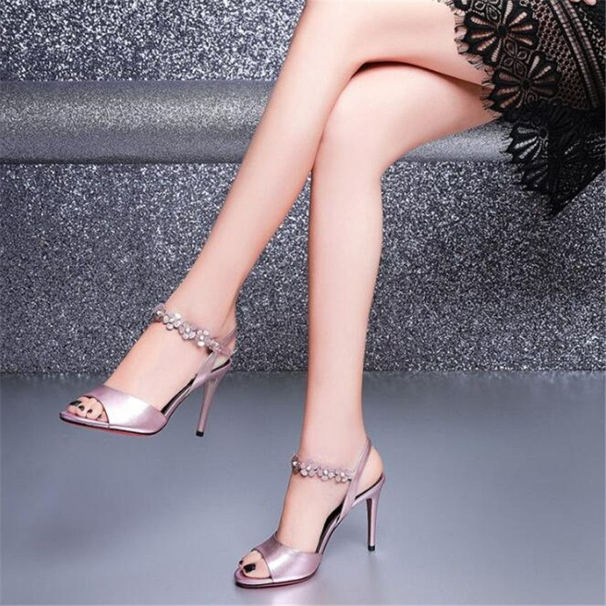 MLCRIYG 2018 popular women's summer <font><b>Rome</b></font> toes and high heels leather sandals