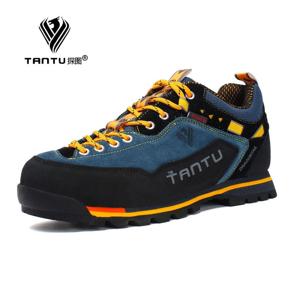 Nouvelle marque chaussures de randonnée respirant chaussures de plein air grande taille 39-46 camping escalade caoutchouc semelle en cuir en plein air hommes chaussures de randonnée