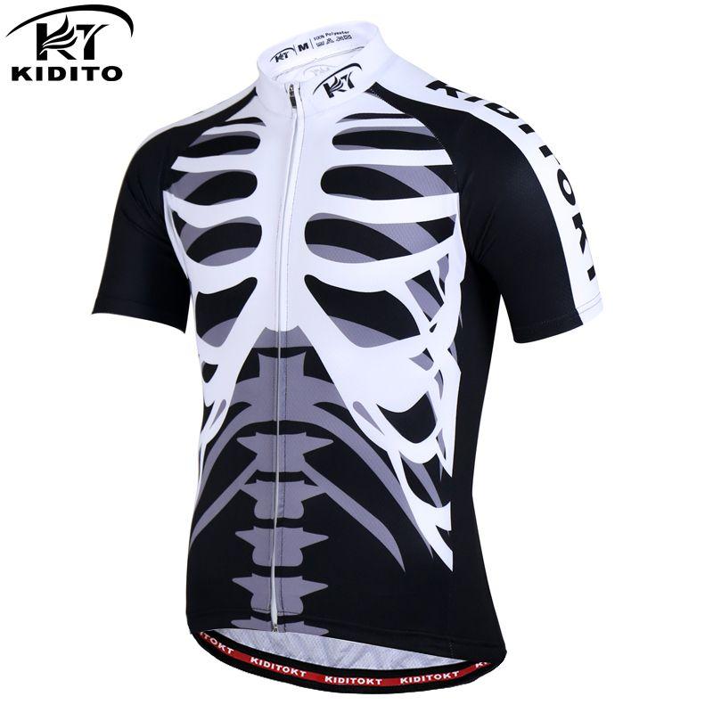KIDITOKT Pro Rapide-Sec Vélo Jersey D'été VTT Route Cyclisme Vêtements Vélo Vêtements Respirant Montagne Vélo Vêtements