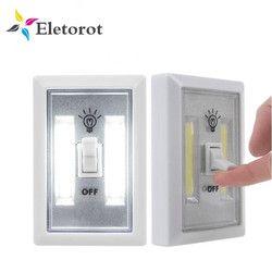 Magnético COB LED pared Luces de noche lámpara sin cuerda batería operado gabinete garaje armario camping luz de emergencia