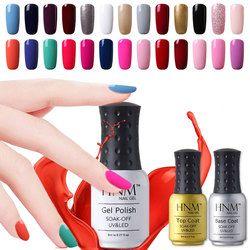 HNM 8 мл УФ-гель для ногтей светодиодный Гель-лак 58 Цветной Гель-лак чистые цвета Полупостоянный Гель-лак грунтовка для ногтей основа Топ
