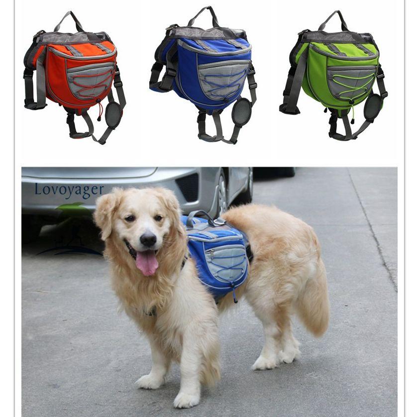 Haute qualité accessoires pour animaux de compagnie étanche réglable en nylon sac à dos pour animaux de compagnie chien sac de selle pour grand chien randonnée voyage