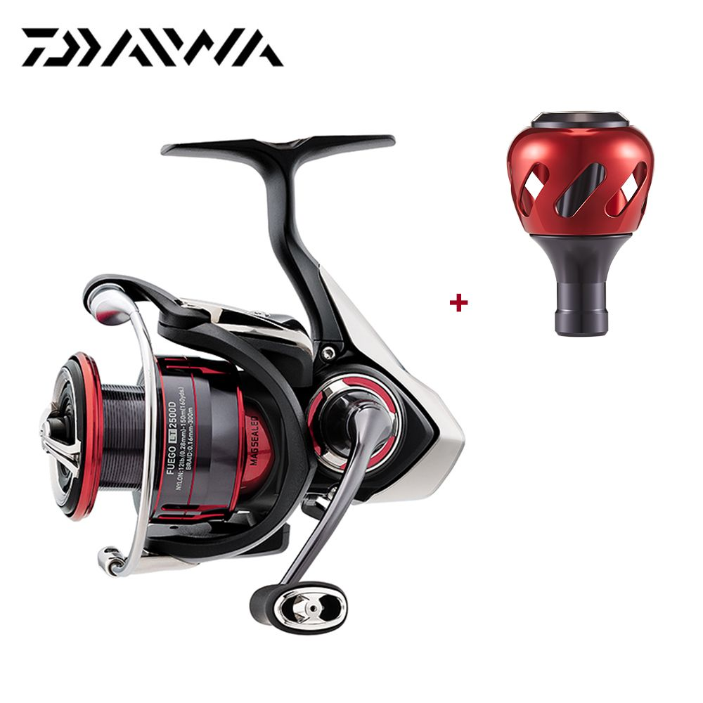 2018 New Daiwa FUEGO LT Spinning Reel Extra Handle Knob 6.2 High Gear Ratio 7 Ball Bearings Carbon Light Air Rotor Fishing Reel