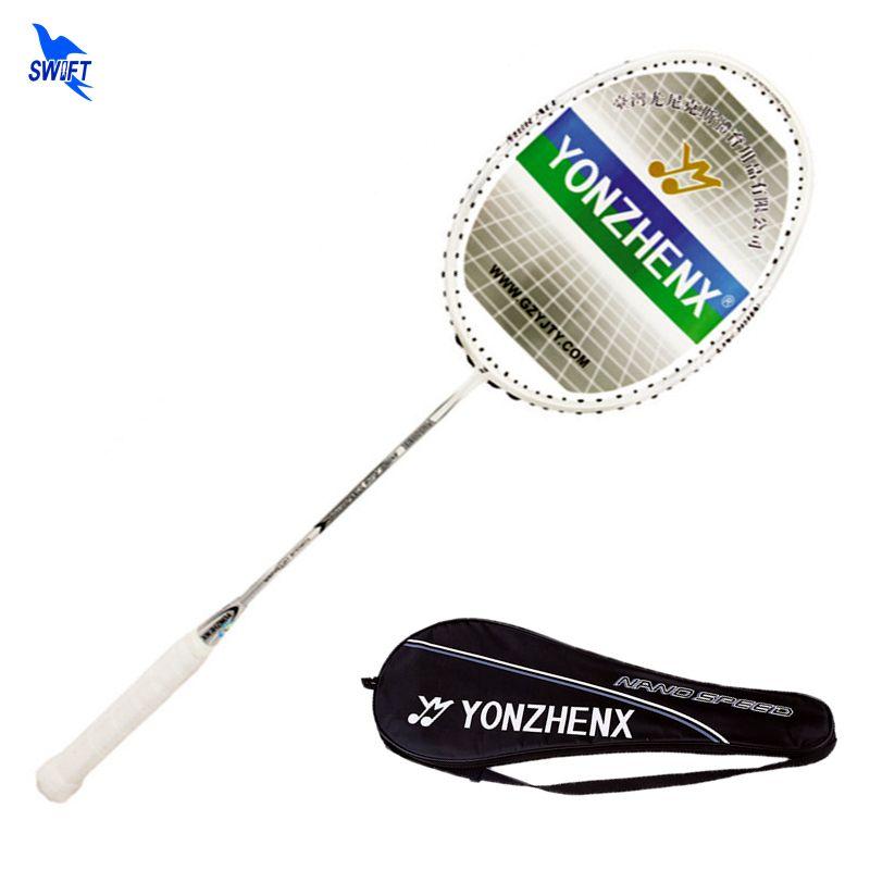 100% Original YONZHENX Full Carbon Badminton Schläger Professionelle 3U G3 20 £ Badminton Schläger Mit Trage Tasche