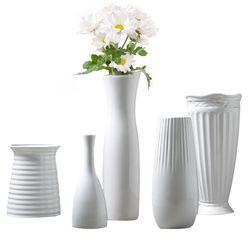 Klasik Putih Keramik Vas Porselen Vas Bunga Seni Cina Dan Kerajinan Decor Dikontrak Kreatif Hadiah Dekorasi Rumah Tangga