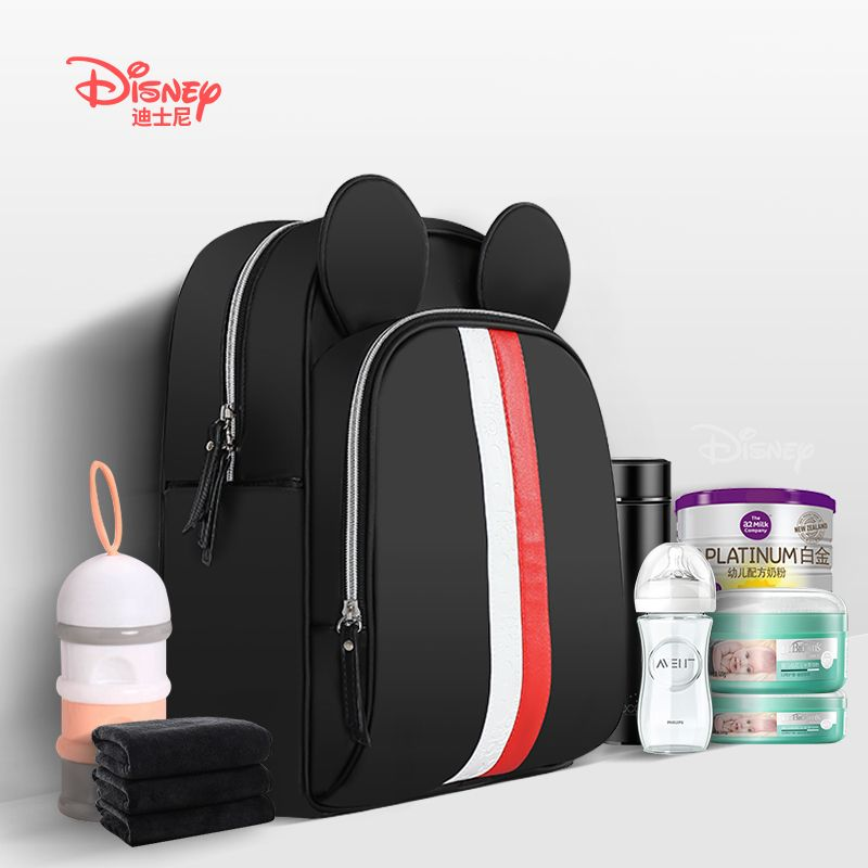 Disney Multi-function Bottle Feeding Insulation Bag With USB Mother Nappy Bags Baby Care Nappy Changing Bag