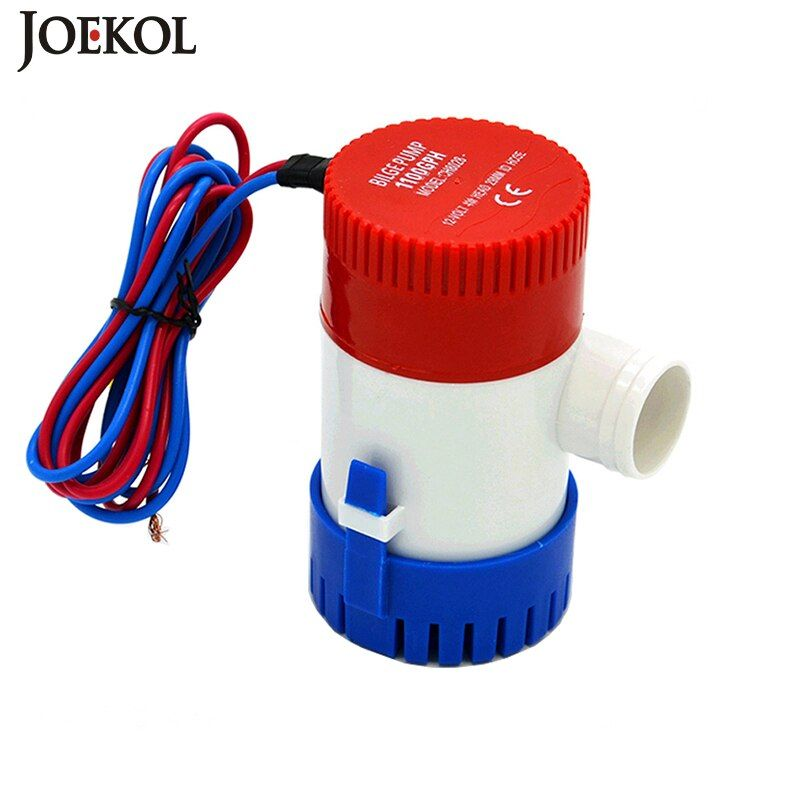 Livraison gratuite dc 12 v/24 v pompe de cale 500/750/1100GPH, pompe à eau électrique pour bateaux accessoires marin, pompe à eau submersible pour bateau