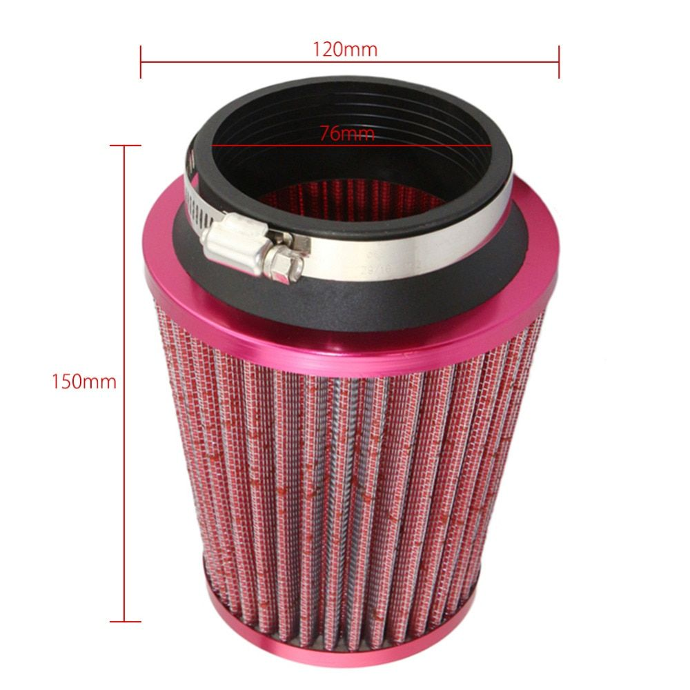 Air Filter Car Mechanical Supercharger Coche Car Filtre air intake Coches 76mm Air Filter Car Cold Kits Drop Shipping