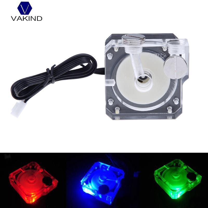VAKIND DC 12V 0.5A Super Silent Water Circulation Cooling Pump G1/4 thread Tube Connector 4pin Pump For PC Water Cooling System
