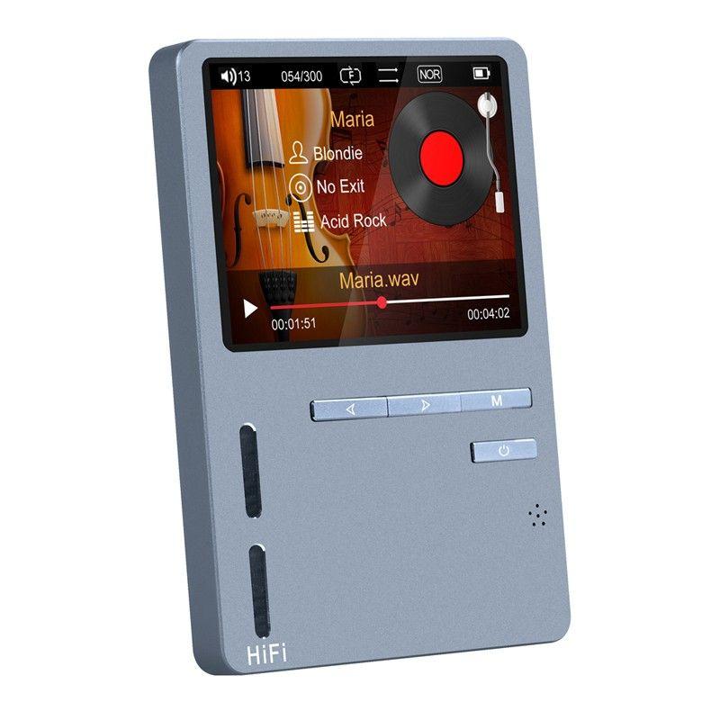 Original ONN X6 Hifi MP3 High Resolution Audio Player with HD Screen FM Bass Speaker Support APE/FLAC/ALAC/WAV/WMA/OGG/MP3