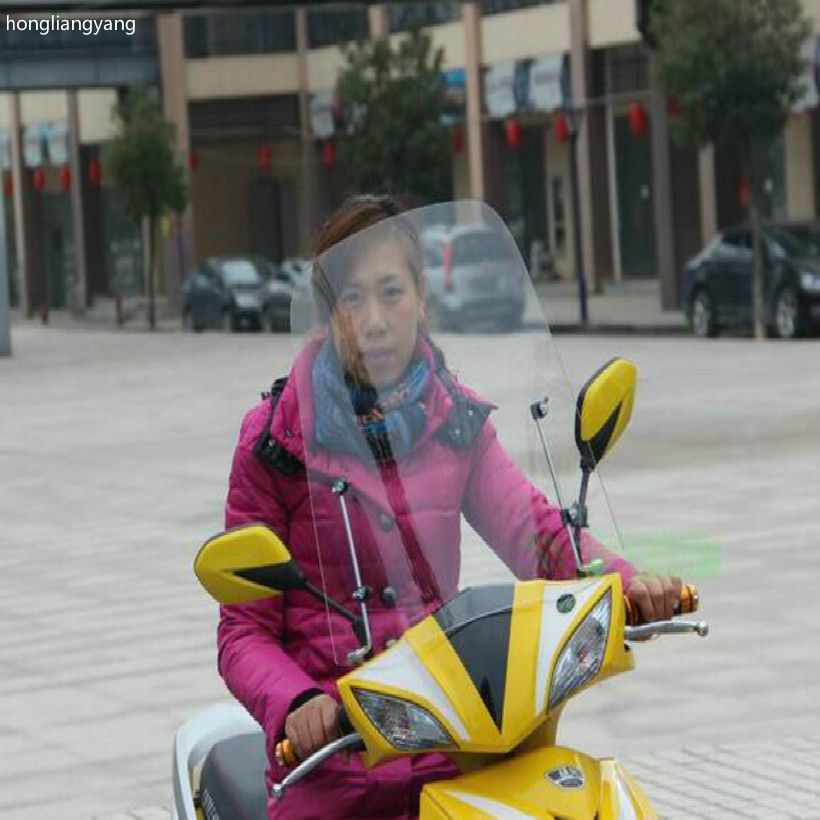470*450*3mm Plexiglass motorcycle wind deflector motorcycle windshield scooter windshield with Mounting bracket