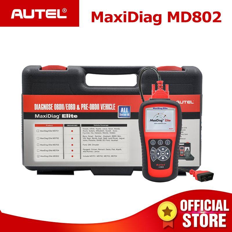 Autel MaxiDiag Elite MD802 Pro Alle Systeme OBDII Auto Auto Diagnose Werkzeug ODB2 OBD2 Scanner OBD 2 Code Reader PK autel MD805