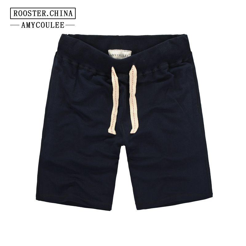 100% baumwolle Sommer Neue Marke Strand Shorts Männer Einfarbig Bodybuilding Ball Und Freizeit Kurzen Alltagsshorts Masculino