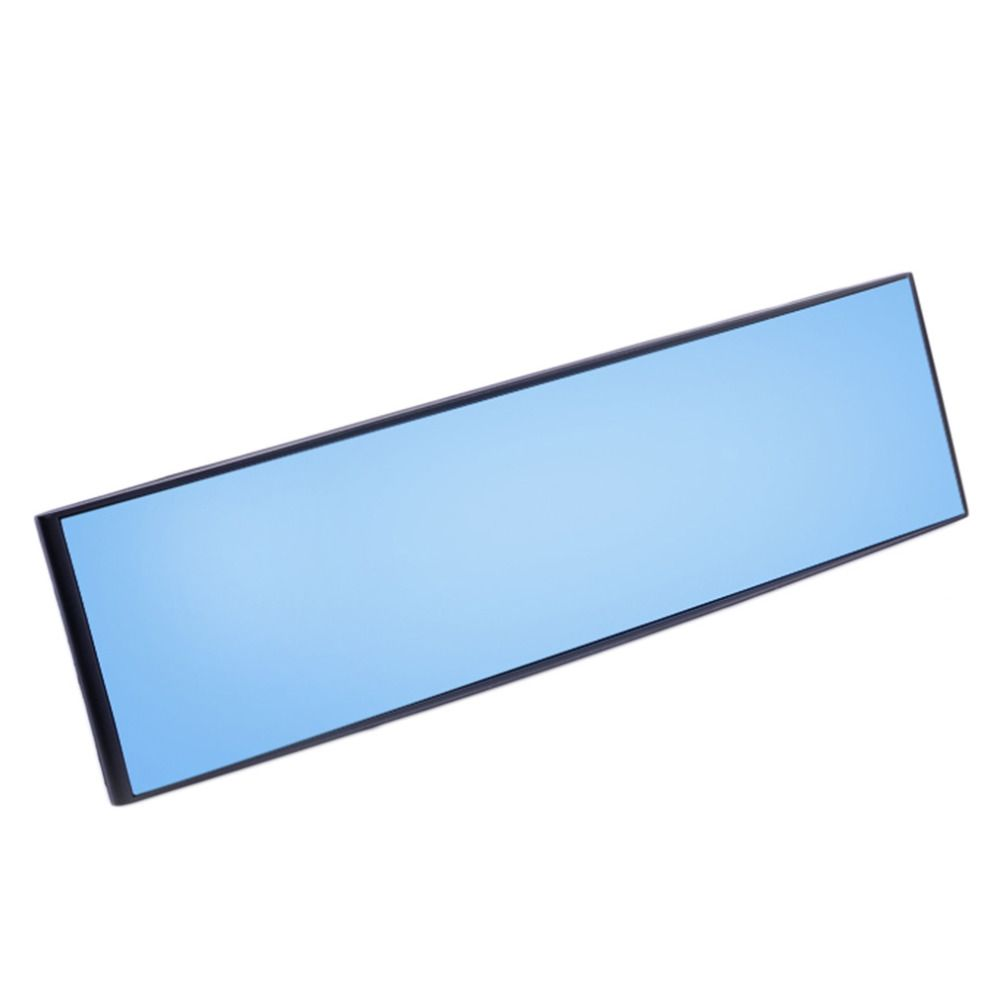 Newest High Quality 7.5*30cm Wide Anti-Dazzle Blue Tint Curved Surface Rear View Mirror ABS Fit All Car Hot Selling Universal