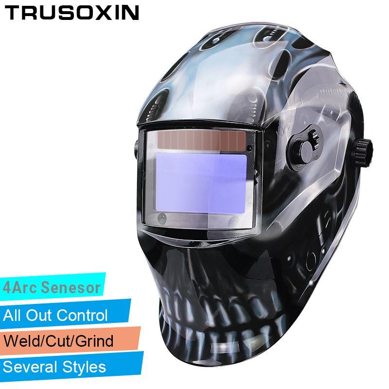 Out ajuster grande vue Eara 4 Arc capteur meulage coupe solaire Auto assombrissement TIG MIG MMA masque de soudage/casque/capuchon de soudeur/masque facial