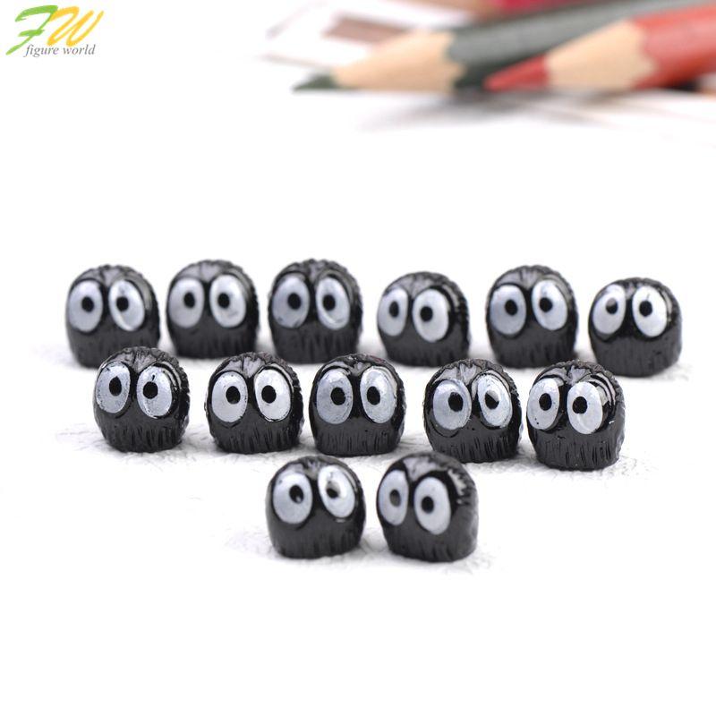 (10pcs/lot) Spirited Away miniature figurines toys cute lovely Model Kids Toy 1cm PVC japan anime children action figure160355