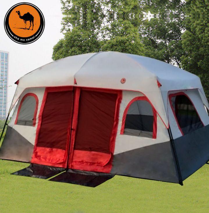 2018 kamel 2 Schlafzimmer 1 Wohnzimmer 6 8 10 12 Person Wandern UV Wasserdichte Reise Strand Relief Familie Basis Outdoor Camping zelt