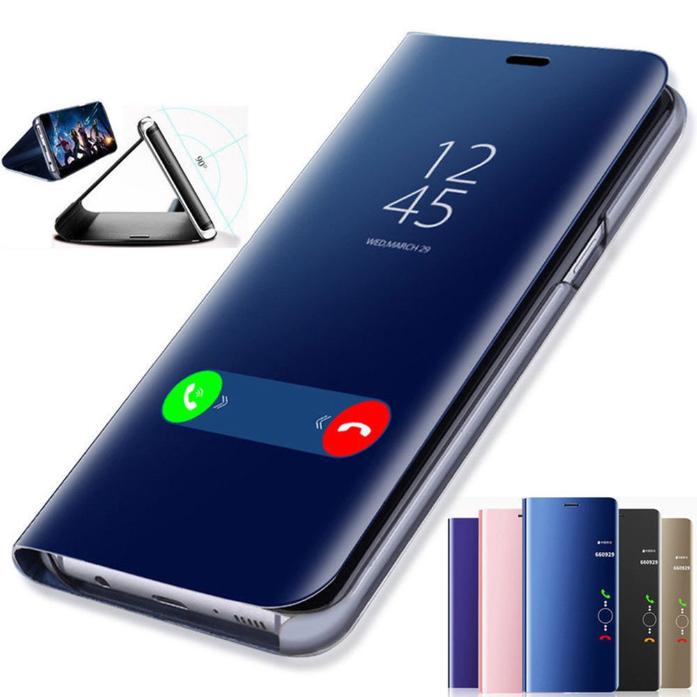 Clear View Smart Mirror Phone Case For Samsung Galaxy S9 S8 S7 S6 Edge Plus For Note 9 8 5 4 3 For A3 A5 A7 J3 J5 J7 2017 Cover