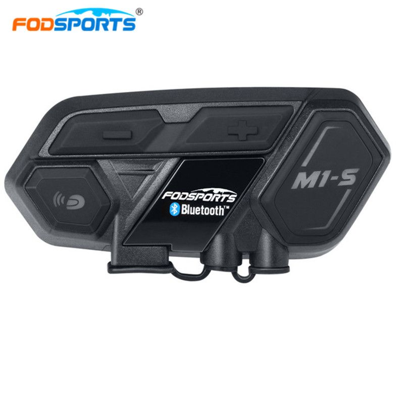 Fodsports M1-S Helmet Headset Motorbike Intercom Bluetooth interphone Motorcycle intercom for 8 riders Connect BT-S2 Waterproof