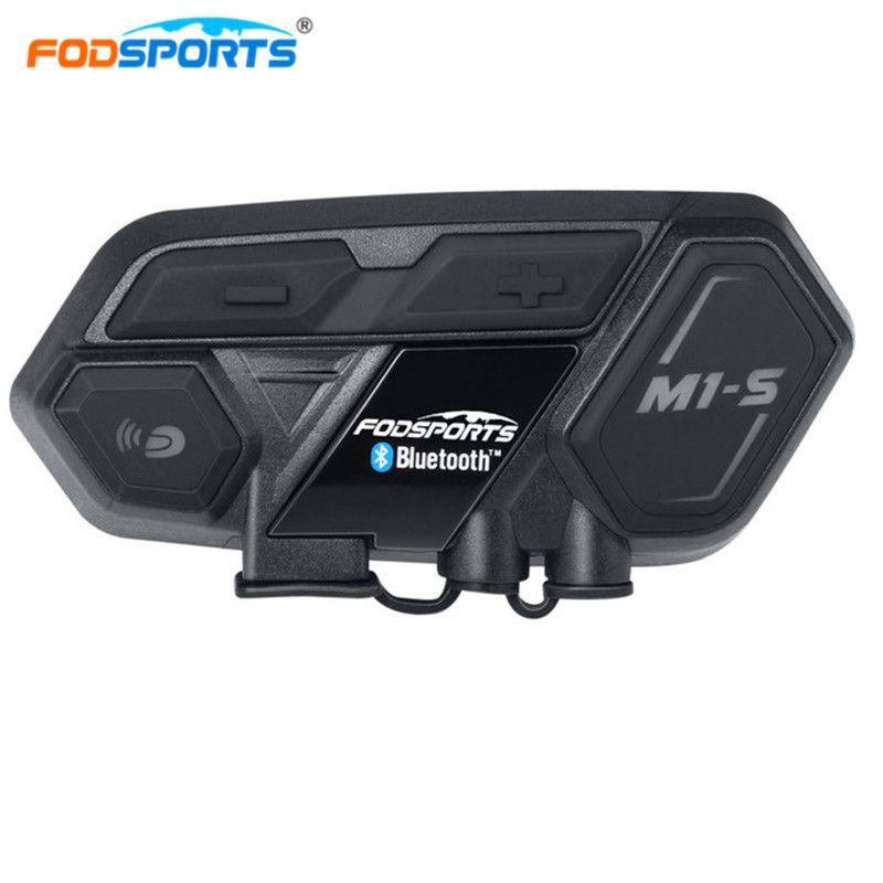 Fodsports M1-S Helmet Headset Motorbike Intercom Bluetooth interphone Motorcycle intercom for 8 riders Connect BT-S2 Waterproof