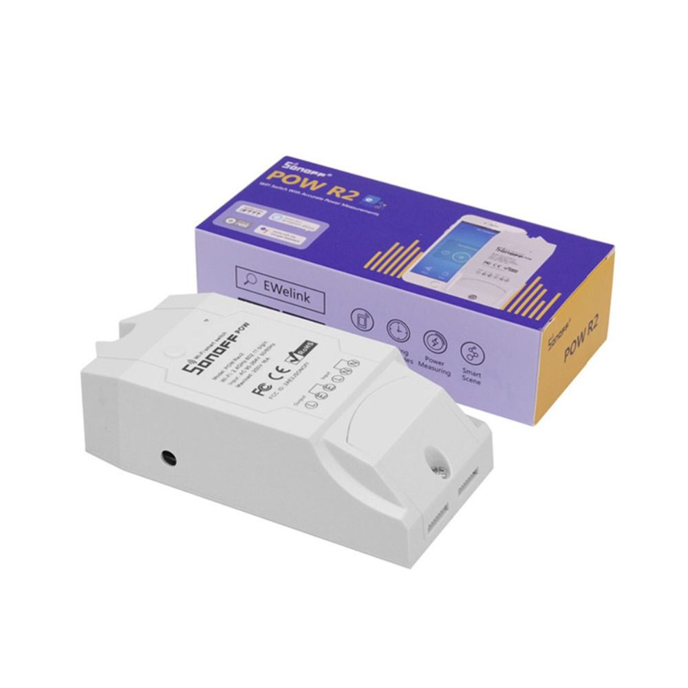 Itead Sonoff Pow R2 16A Wifi Smart Switch Monitor Energy Usage Smart Home Power Measuring Wi-fi Switch Works With Alexa