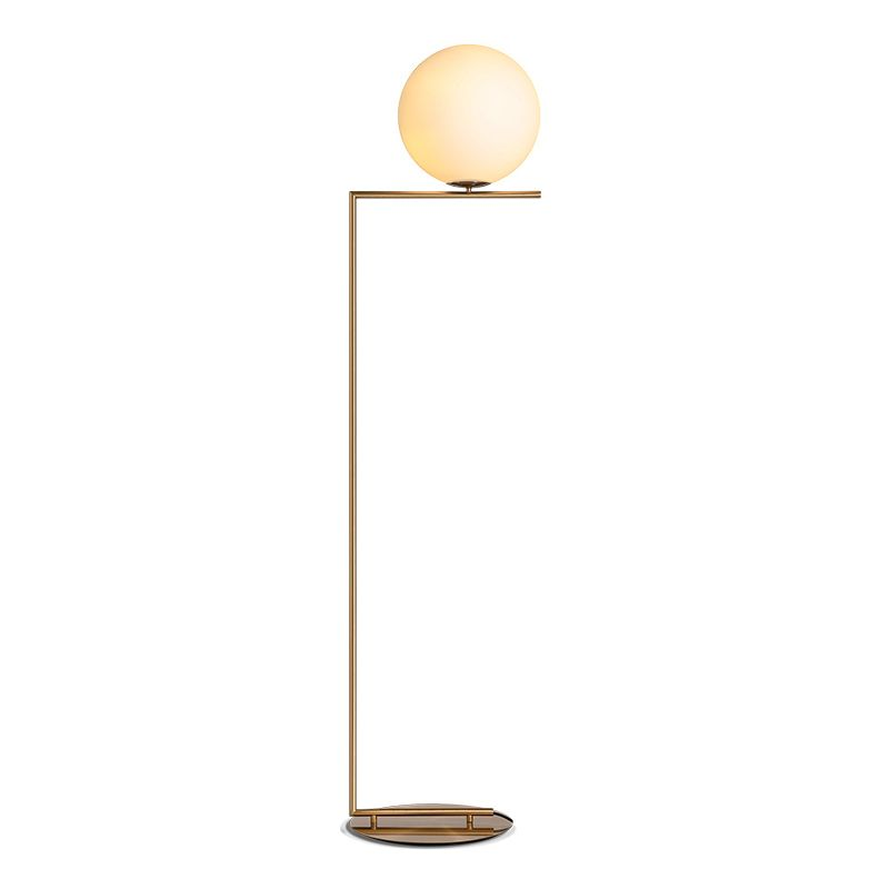 Nordic glass ball floor lamps art gold body Round Ball Stand Lamp For Home Deco Material Vertical Indoor Lighting E27 Floor Ligh