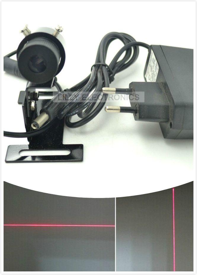 650nm 100 MW red módulo localizador line laser 22x70mm W/disipador y Europa PLUG