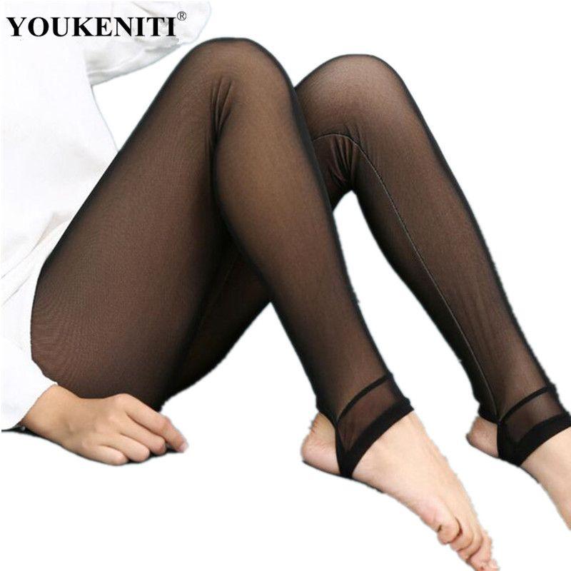 New Autumn And Winter Milk Silk Thick Warm Women Leggings High Waist Elastic Sexy Slim Lady's Soft Leggings Plus Fitness Pants