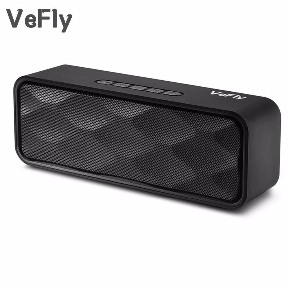 VeFly 4.2 bluetooth haut-parleur Salut-fi portable sans fil boîte, mp3 lecteur de musique récepteur audio FM radio avec USB AUX TF boombox colonne
