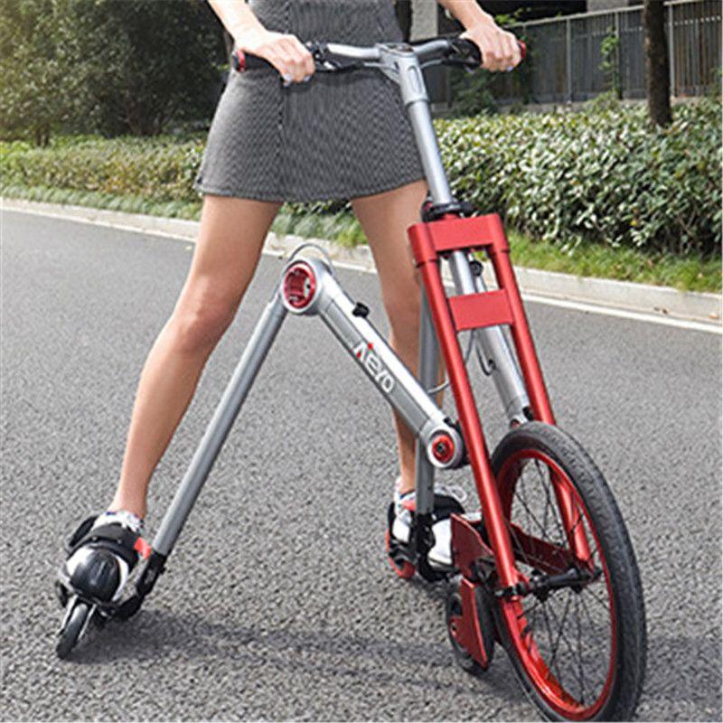 Nouvelle marque deuxième génération 3 roues patinage vélo mante voiture créative bicicleta adulte amortissement scooter vélo pliant