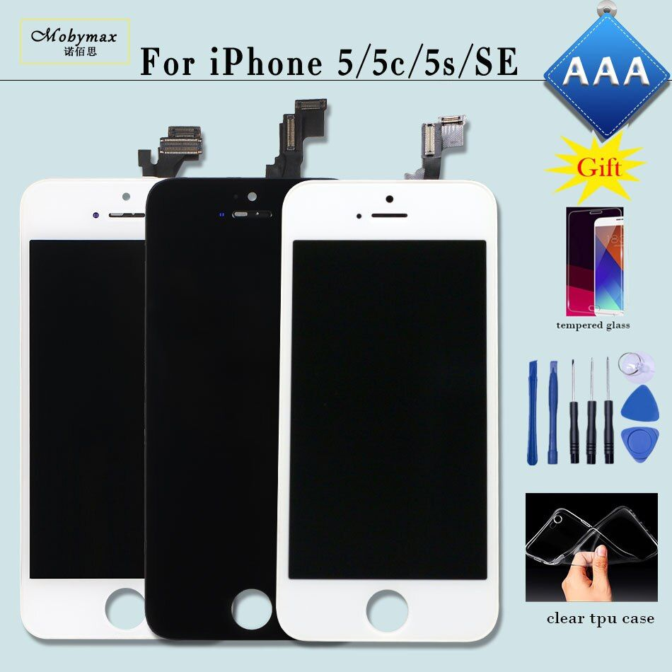 No Dead Pixel for iPhone 6 Display Screen Touch Digitizer Assembly Replacement Pantalla for iPhone 5S LCD 5 5C SE with Free Gift