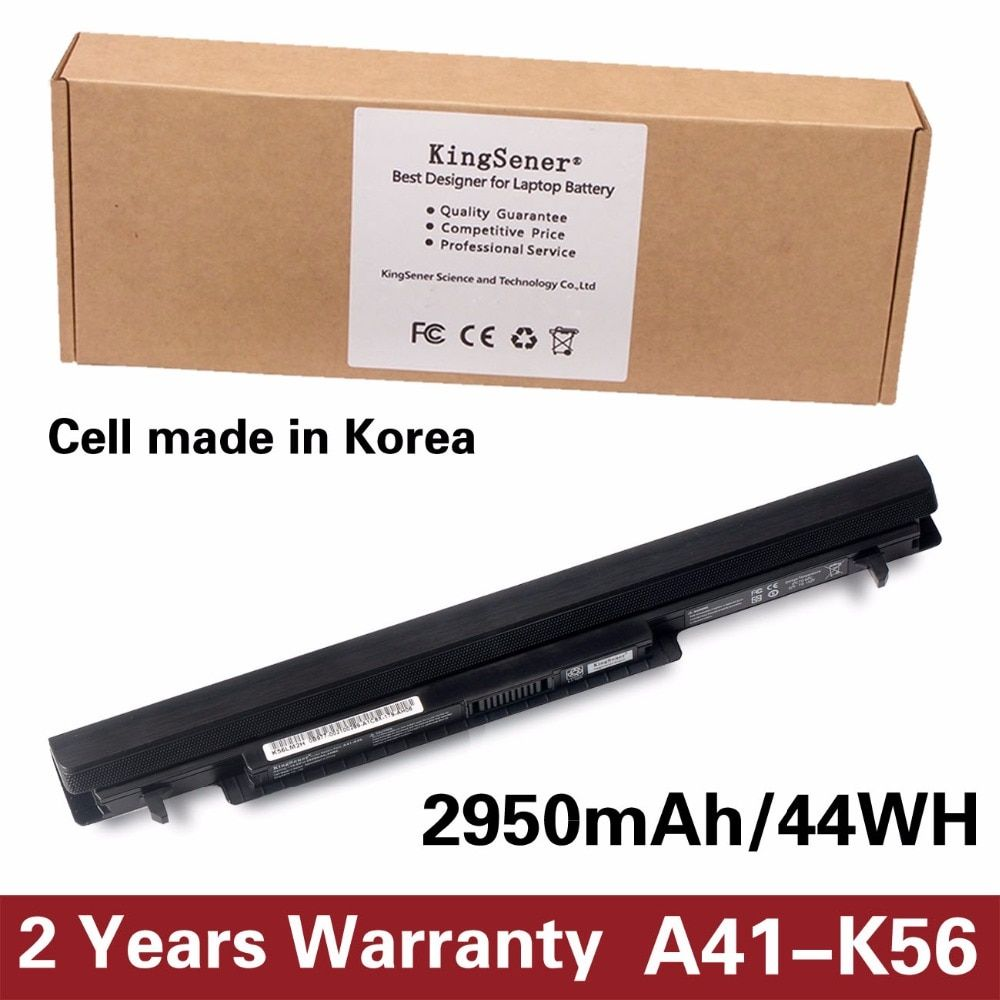 Korea Cell KingSener New A41-K56 Battery for ASUS K46 K46C K46CA K46CM K56 K56CA K56CM S46C S56C A32-K56 A42-K56 15V 2950mAh