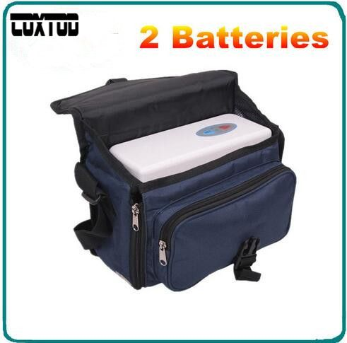 COXTOD Two batteries Genuine Portable Oxygen Concentrator home travel with car recharger