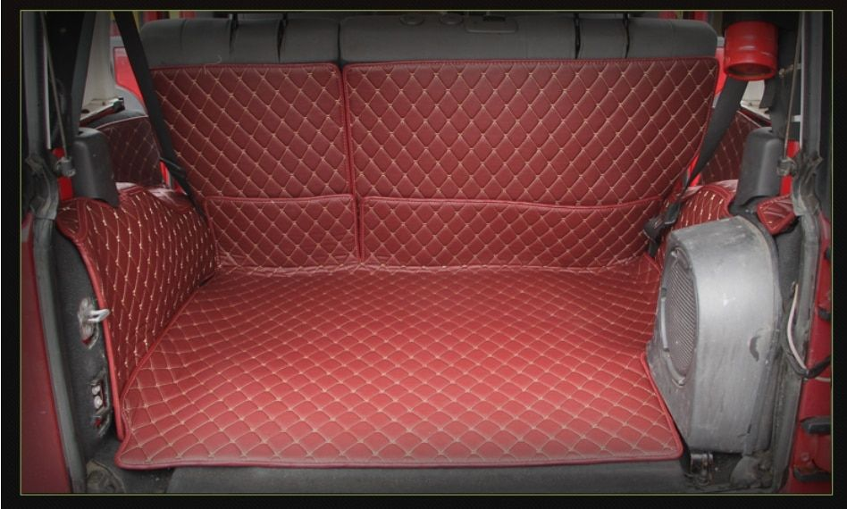 Hohe qualität! Spezielle auto stamm matten für Jeep Wrangler JK 2017-2007 durable wasserdichte cargo-liner boot teppiche, Freies verschiffen