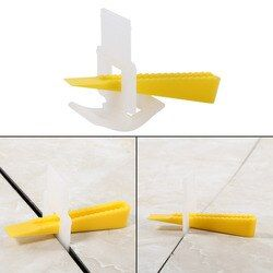 500 Clips + 200 Wedges Floor Wall Tile Leveler Spacers Flat Leveling System Tools