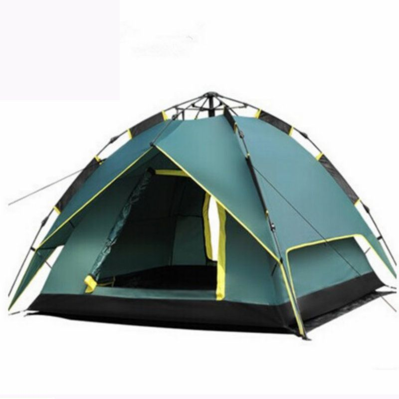 2018 New Arrival 3-4 person Tents Hydraulic Automatic Windproof Waterproof Double Layer Tent Outdoor Hiking Camping Tent