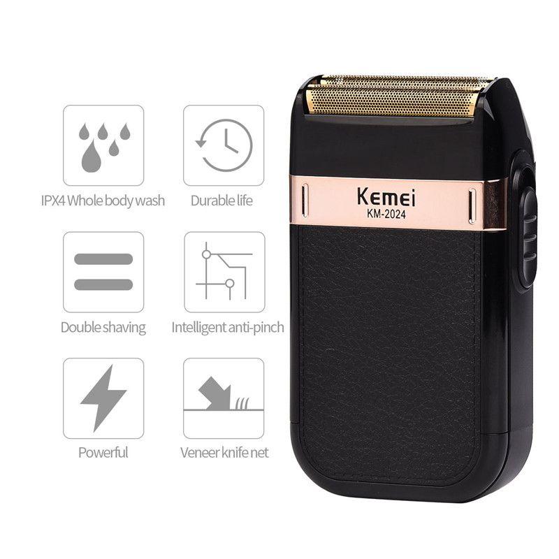 Kemei Rasoirs Électriques Pour Hommes Rechargeable Rasoir Rasage Machine À Barbe Rasoir USB charge barbeador